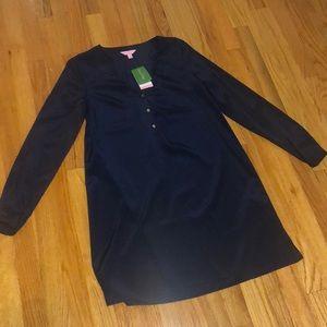 Lily Pulitzer satin shirt/dress